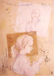Drawing with Malena I - 1980