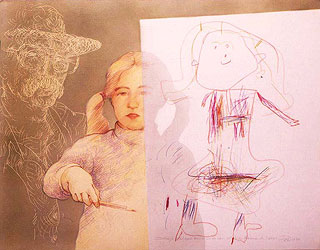 Drawing with Malena II- 1980