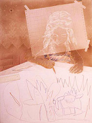 Drawing with Malena III - 1980